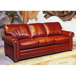 "Omnia Leather Savannah 82"" Genuine Leather Rolled Arm Sofa Genuine Leather, Size 36.0 H x 82.0 W x 90.0 D in   Wayfair Savanna Full Sleeper"