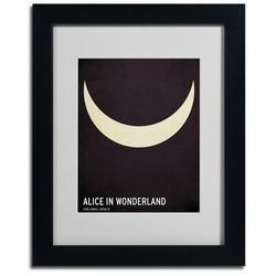Trademark Fine Art 'Alice in Wonderland' Graphic Art on WoodWood in Black/Brown, Size 14.0 H x 11.0 W x 0.5 D in   Wayfair CJ0001-B1114MF