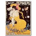 "Trademark Fine Art ""Concert De La Pepiniere, 1902"" Vintage Advertisement on Canvas Canvas & Fabric in Black/Brown/Yellow   Wayfair BL00201-C1824GG"