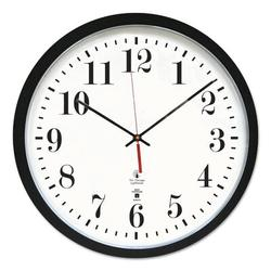 """Chicago Lighthouse For The Blind Atomic 14.5"""" Wall ClockPlastic in Black, Size 16.5 H x 16.5 W x 1.8 D in 