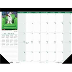 House of Doolittle Puppies Desk Pad Calendar Faux Leather in White, Size 0.2 H x 17.0 W x 22.0 D in | Wayfair 199