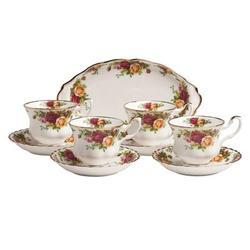 Royal Albert Old Country Roses Tea Set Bone China/Ceramic in Green/Pink/Yellow, Size 3.34 H x 4.0 W in   Wayfair 652383580909