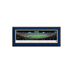 Blakeway Worldwide Panoramas, Inc NCAA University of Notre Dame - 125 Night Deluxe Framed Photographic Print Paper in Black/Blue/Brown   Wayfair