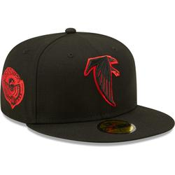 Men's New Era Black Atlanta Falcons Red Undervisor Pro Bowl 1996 Side Patch 59FIFTY Fitted Hat