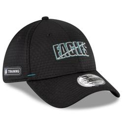 Men's New Era Black Philadelphia Eagles 2020 NFL Summer Sideline Official 39THIRTY Flex Hat