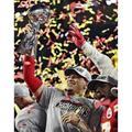 Unsigned Kansas City Chiefs Patrick Mahomes Fanatics Authentic Super Bowl LIV Trophy Photograph