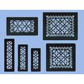 """Antique Recreated Cast Iron Victorian Style Floor. Ceiling, Or Wall Grate For Return Air Intake Or Heat Vents. Floor Register Cover. 2 1/4"""" x 10"""" (Overall size 3 1/2"""" x 12"""") Cast Iron Grill without Damper (ZM-IR-210)"""