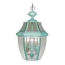Livex Lighting Monterey 2 Light Outdoor Hanging Lantern Glass/Metal in Brown, Size 21.0 H x 12.5 W x 12.5 D in   Wayfair 2355-07