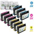 LD Remanufactured Ink Cartridge Replacement for HP 933XL High Yield (3 Cyan, 3 Magenta, 3 Yellow, 9-Pack)