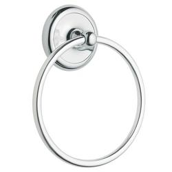Moen Yorkshire Wall Mounted Towel Ring Metal in Gray, Size 7.19 H x 5.88 W x 1.75 D in | Wayfair BP5386CH