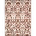 Safavieh Metropolis Animal Print Area Rug Nylon in Brown, Size 120.0 H x 96.0 W x 0.25 D in | Wayfair MTP527-1125-4
