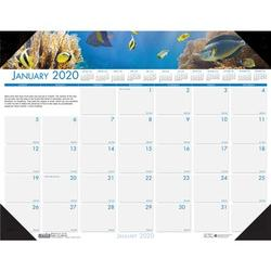 House of Doolittle Sea Life Desk Pad Calendar Faux Leather in White, Size 0.2 H x 17.0 W x 22.0 D in   Wayfair 193