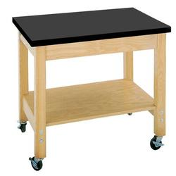 Diversified Woodcrafts Mobile Demo Science Table in Green, Size 30.0 H x 36.0 W x 24.0 D in | Wayfair 4502K