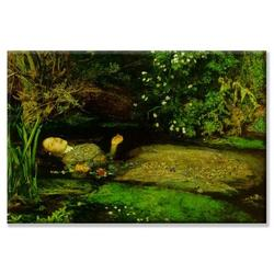 Buyenlarge Ophelia by John Everett Millais Painting Print on Wrapped CanvasCanvas & Fabric in Brown/Green, Size 20.0 H x 30.0 W x 1.5 D in   Wayfair