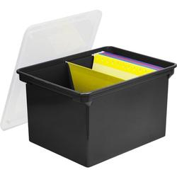 Storex Letter/Legal File Tote Plastic in Black, Size 10.825 H x 17.5 W x 14.25 D in   Wayfair 61528U01C