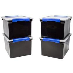 Storex Letter/Legal File Tote Plastic in Black, Size 10.825 H x 17.5 W x 14.25 D in | Wayfair 61543U01C