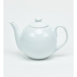 Omniware Teaz 1.06-qt. Lillkin Teapot w/ Infuser Stoneware/Terracotta in Indigo, Size 6.25 H x 9.0 W x 5.5 D in | Wayfair 1508965