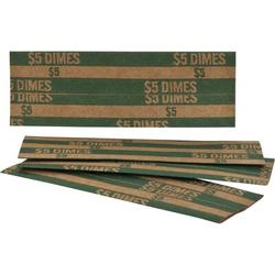Sparco Products Coin Wrapper, 1000 per Box, Various Denominations in Green | Wayfair SPRTCW01