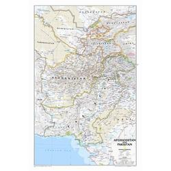 National Geographic Maps Afghanistan/Pakistan Wall Map in Blue, Size 32.0 H x 21.0 W x 0.25 D in   Wayfair RE01020436