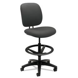 HON ComforTask Drafting Chair Upholstered in Black, Size 50.0 H x 26.75 W x 30.0 D in | Wayfair H5905.H.CU19.T