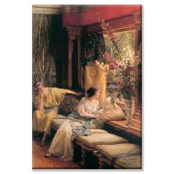 Buyenlarge Vain Courtship Painting Print on Wrapped CanvasCanvas & Fabric in Brown, Size 24.0 H x 16.0 W x 1.5 D in | Wayfair 61303-LC1624