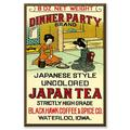 Buyenlarge Dinner Party Brand Vintage Advertisement on Wrapped CanvasCanvas & Fabric in Brown/Red, Size 30.0 H x 20.0 W x 1.5 D in | Wayfair