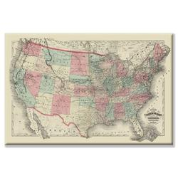 Buyenlarge Map of the United States Territories 1872 Graphic Art on Wrapped CanvasCanvas & Fabric in White   Wayfair 21904-1C2436