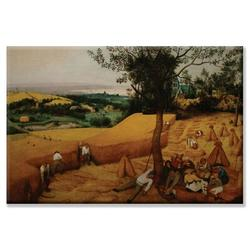 Buyenlarge 'The Harvesters' by Pieter Bruegel the Elder Painting Print on CanvasCanvas & Fabric in Brown/Green, Size 16.0 H x 24.0 W x 1.5 D in