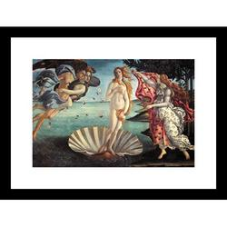 Buyenlarge Birth of Venus by Sandro Botticelli Framed Painting PrintPaper in Blue/Brown/Red, Size 17.5 H x 23.5 W x 0.5 D in | Wayfair