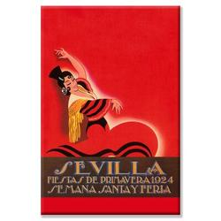 Buyenlarge Sevilla Saints Week Fair Vintage Advertisement on Wrapped CanvasCanvas & Fabric in Brown/Red, Size 24.0 H x 16.0 W x 1.5 D in | Wayfair