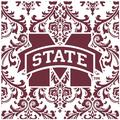 Thirstystone Mississippi State University Square Occasions Trivet in Red, Size 8.0 H x 0.35 D in | Wayfair FT-MSSU4