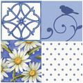 Thirstystone Garden Party 4-Patch Occasions Trivet in Blue/White, Size 8.0 H x 0.35 D in | Wayfair FT-SY16