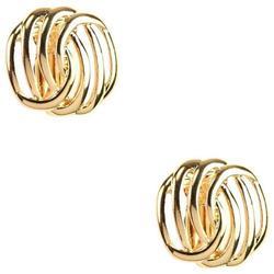 Napier Knot Button Clip Earrings