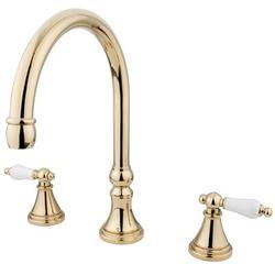 Kingston Brass Roman Double Handle Deck Mounted Roman Tub Faucet in Yellow   Wayfair KS2342PL