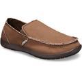 Crocs Espresso / Espresso Men'S Santa Cruz Slip-On Shoes