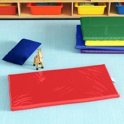 "Children's Factory Rainbow 2"" Thick Nap MatVinyl in Green/Red/Yellow, Size 2.0 H x 24.0 W x 48.0 D in | Wayfair CF350-034"