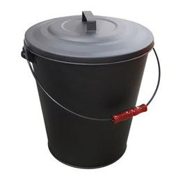 """Ash Bucket W/ Lid 16.5""""h X 13.8""""d Lawn And Garden"""