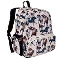 Wildkin 17 Inch Kids Backpack for Boys & Girls, Features Three Zippered Compartment with Interior & Side Pockets Backpacks, Perfect for School & Travel Backpack for Kids, BPA-free (Horse Dreams)