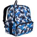 Wildkin 17 Inch Kids Backpack for Boys & Girls, Features Three Zippered Compartment with Interior & Side Pockets Backpacks, Perfect for School & Travel Backpack for Kids, BPA-free (Blue Camo)