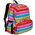 Wildkin 17 Inch Kids Backpack for Boys & Girls, Features Three Zippered Compartment with Interior & Side Pockets Backpacks, Perfect for School & Travel Backpack for Kids, BPA-free (Bright Stripes)
