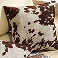 Must-have decorative accent throw toss Cow Hide Print Pillows (Set of 2).Will certainly accessorize your living or bedroom furniture. Add decor to your area rug, lamps, bedding, or curtains n.