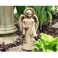 Carruth Studio, Hope Wall Plaque, Garden Statue Figurine, Original Sculpture Handcrafted in Stone, Artisan Made