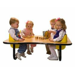 """Toddler Tables Kid's 5 Piece 72"""" x 48"""" Novelty Activity Table & Chair SetLaminate/Metal in Red, Size 27.0 H x 72.0 W x 48.0 D in 