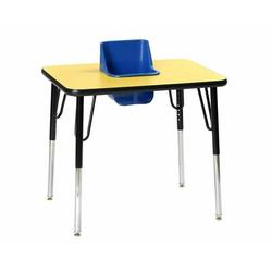 Toddler Tables Kid's 2 Piece Square Activity Table & Chair SetLaminate/Metal in Yellow, Size 27.0 H x 30.0 W x 24.0 D in | Wayfair TT1-YEL-YL
