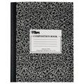 TOPS Marble Composition Books, 7.88 x 10 Inches, College Rule, Hard Cover, 80 Sheets, White, Case of 50 Books (63798)