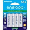Panasonic BK-3MCCA8BA eneloop AA 2100 Cycle Ni-MH Pre-Charged Rechargeable Batteries, 8 Pack