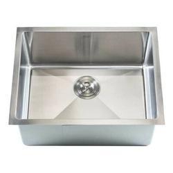 "eModern Decor Ariel 23"" L x 18"" W Single Bowl Undermount Kitchen SinkStainless Steel in Gray, Size 10.0 H x 23.0 W x 18.0 D in | Wayfair HBS2318B"