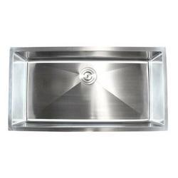 "eModern Decor Ariel 36"" L x 19"" W Single Bowl Undermount Kitchen SinkStainless Steel in Gray, Size 10.0 H x 36.0 W x 19.0 D in   Wayfair HBS3619B"
