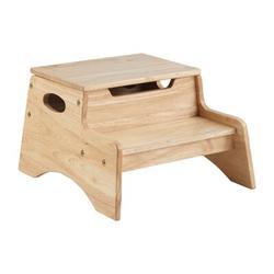 KidKraft Step Stool w/ StorageManufactured Wood in Brown, Size 9.75 H x 13.55 W x 15.65 D in   Wayfair 15611