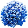 Brybelly Dice (100 Count), Blue, 19mm